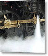 Blowing Of Steam Metal Print