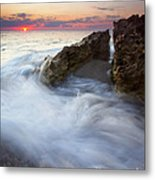 Blowing Rocks Sunrise Metal Print