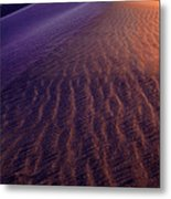 Blowing Sand At Death Valley Metal Print