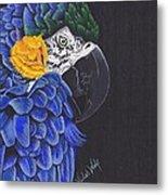 Blu And Gold Macaw Metal Print