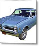 Blue 1966 Pointiac Lemans Metal Print