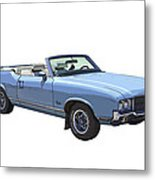 Blue 1971 Oldsmobile Cutlass Supreme Convertible Metal Print