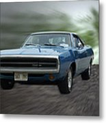 Blue 70 Charger Metal Print