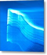 Blue Abstract 3 Metal Print