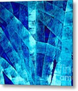 Blue Abstract Art - Paths - By Sharon Cummings Metal Print