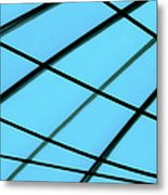 Blue Abstract Metal Print by Tony Grider