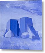 Blue Adobe Metal Print