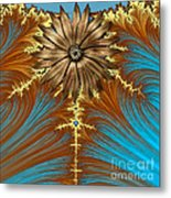 Blue And Brown Synergy Metal Print