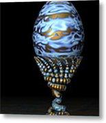 Blue And Golden Egg Metal Print