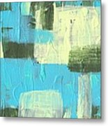 Blue And Green Abstract Metal Print