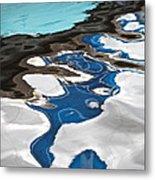 Blue And Green Baltic Sea - Abstract. Metal Print