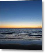 Blue And Orange Sky Metal Print