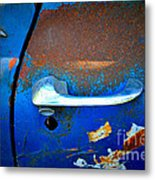Blue And Rusty Picking Metal Print