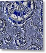 Blue And Silver 1 Metal Print