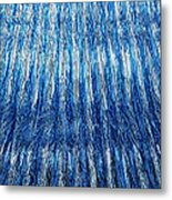 Blue And Silver Plastic Abstract Metal Print