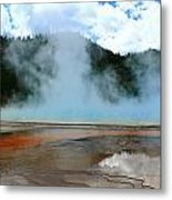 Blue And Steamy Metal Print