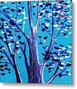 Blue And White Metal Print