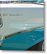 Blue And White Bel Air Convertable Metal Print