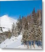 Blue And White Colorado Winter Metal Print