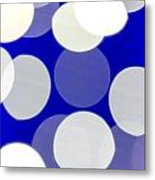 Blue And White Light Metal Print