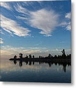 Brushstrokes On The Sky - Blue And White Serenity Metal Print
