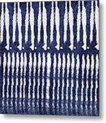 Blue And White Shibori Design Metal Print