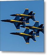 Blue Angel Diamond Metal Print