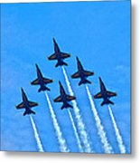 Blue Angel Team Metal Print