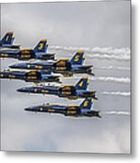 Blue Angels Metal Print by Jeff Swanson