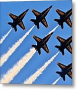 Blue Angels Overhead Metal Print