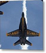 Blue Angels Overhead Break  Metal Print
