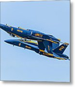 Blue Angels Upright And Inverted 2 Metal Print