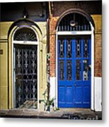 Blue Arch Door Metal Print