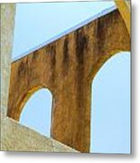 Blue Arches Metal Print
