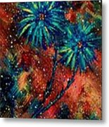 Blue Asters Metal Print