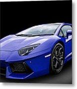 Blue Aventador Metal Print