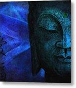 Blue Balance Metal Print