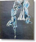 Blue Ballerina dance art Metal Print
