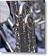 Blue Band Brass Metal Print