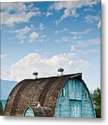 Blue Barn In The Stillaguamish Valley Metal Print