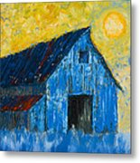 Blue Barn Number One Metal Print