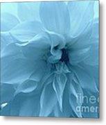 Blue Beauty - Dahlia Metal Print