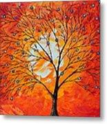 Blue Berry Tree Metal Print