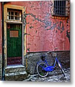 Blue Bicycle Monterosso Italy Dsc02592  Metal Print