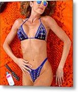 Blue Bikini 16-2p Metal Print