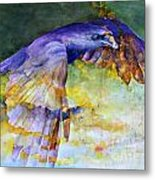 Blue Bird Metal Print by Janet Moss