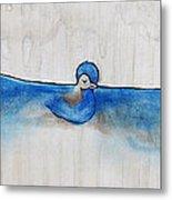 Blue Bird Of Happiness Metal Print