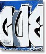 Blue Blood Buds Metal Print