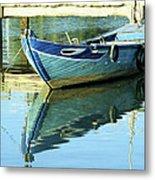 Blue Boat 01 Metal Print