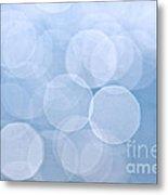 Blue Bokeh Background Metal Print by Elena Elisseeva